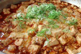 麻婆豆腐チーズ掛け